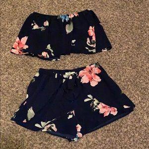 2 Piece Floral Set